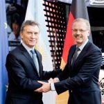 Macri con representantes de Daimler