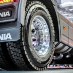 Fate junto a Scania en  el 8° Salón Internacional  del Automóvil