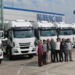Navicam entregó diez Iveco a Ourense Transportes