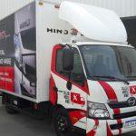 Deflector hecho en Argentina para camiones Hino