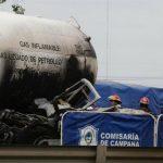 Chocó un camión que transportaba gas en Panamericana