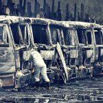 Atribuyen el incendio de 16 camiones a Mapuches