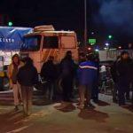 Corte y protesta de propietarios de camiones